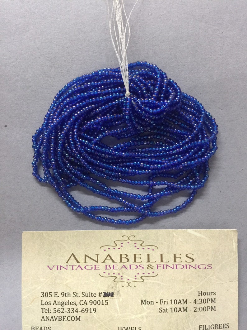 Czech beads Sold by bunch of 6 strands. 110 seed beads #177 royal iris Nos seed beads NOS Anavbf Vintage