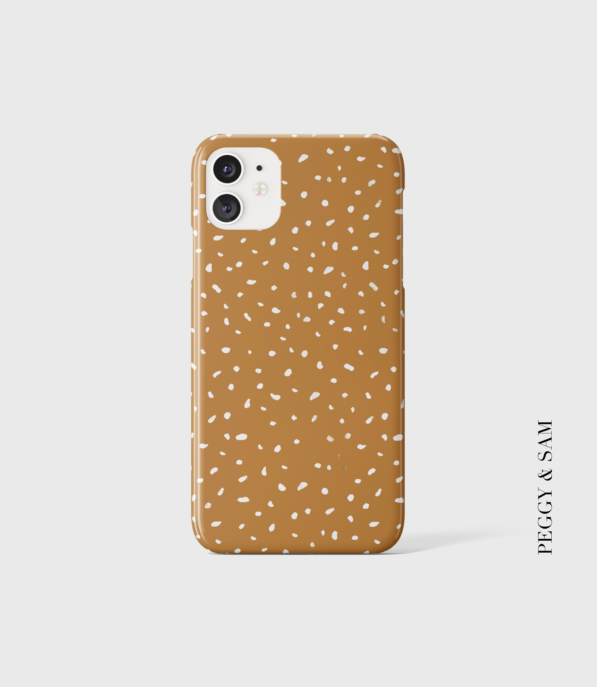 Dots Phone Case Light Brown iPhone Case Samsung Case   Etsy
