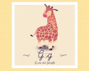 Tier-ABC - G wie Giraffe