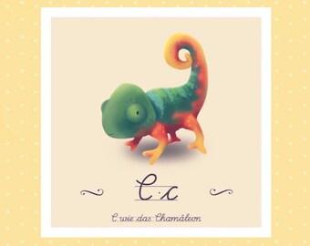 Tier-ABC - C wie Chamäleon
