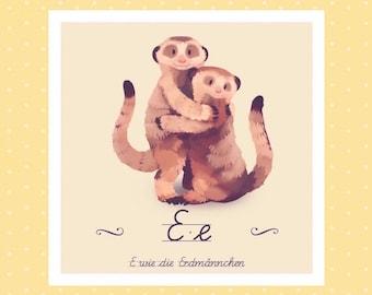 Tier-ABC - E wie Erdmännchen