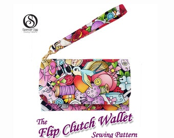 The Flip Clutch Wallet . PDF Bag sewing pattern. Coin Purse pattern. Clutch sewing Patterns. Sew and sell.