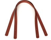 26 quot PU leather bag handles. One Pair light coffee. Suitable for the Harris Tote. Rivet on bag handles, bag straps