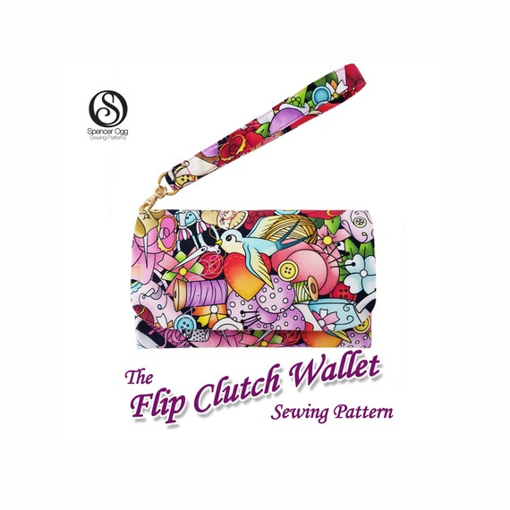 The Flip Clutch Wallet Pdf Bag Sewing Pattern Coin Purse Etsy