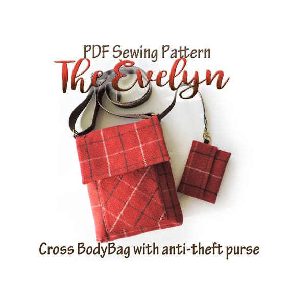 The Evelyn crossbody bag pattern with anti theft purse . iPad bag ...