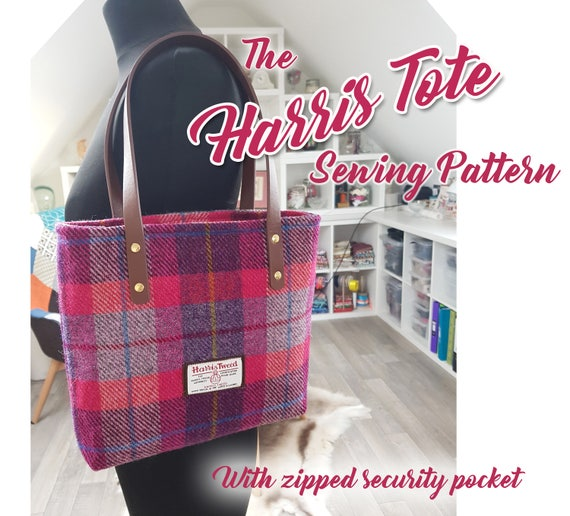 The Harris Tote Bag sewing pattern in 2 sizes . PDF Bag sewing | Etsy