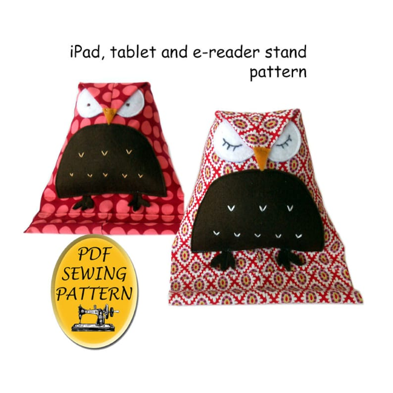 Free Pattern Almost. Tablet stand sewing pattern. Owl design image 0