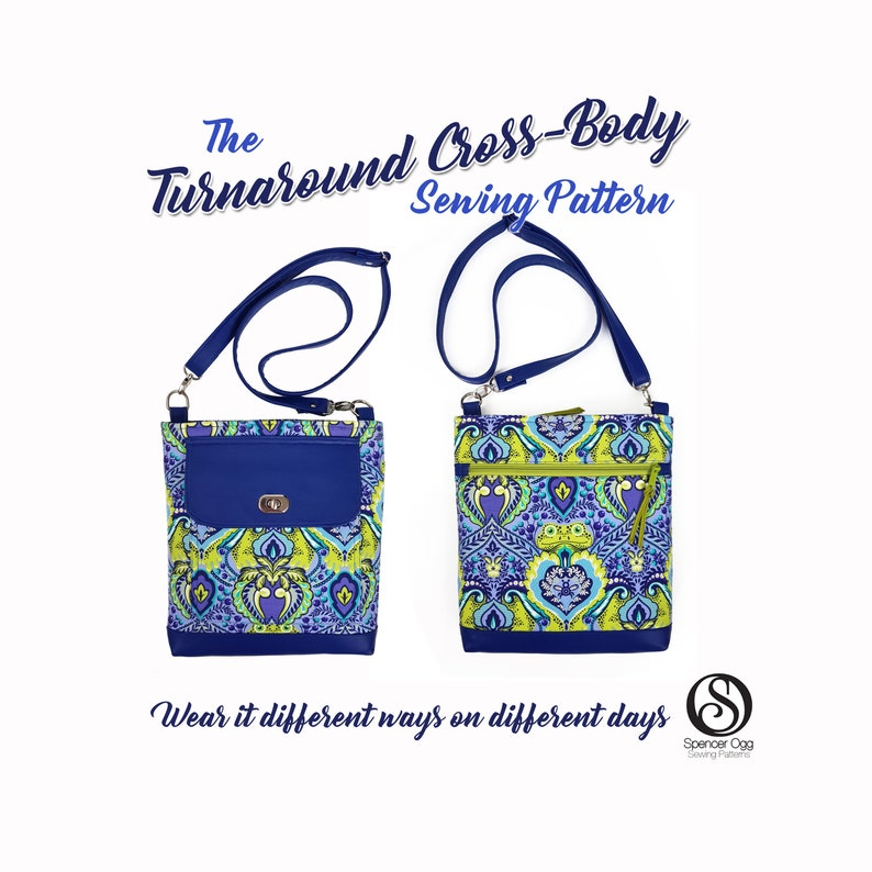 The Turnaround Cross-Body Bag sewing pattern . PDF Bag sewing  bd92aaf13f927