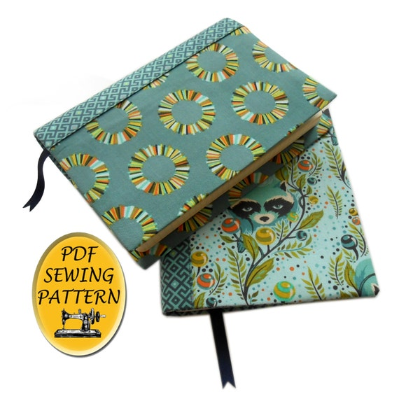 A5 book cover sewing pattern with free tutorial for any size