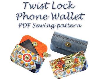 Wallet Sewing Pattern. Twist lock PDF purse pattern. Purse sewing pattern. Coin purse