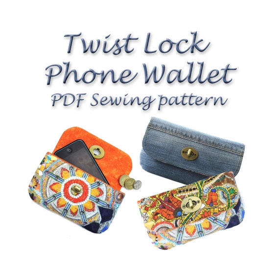 Wallet Sewing Pattern. Twist lock PDF purse pattern. Purse | Etsy