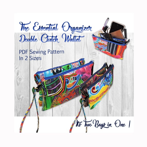 The Essential Organizer Double Clutch PDF Sewing Pattern. Bag | Etsy