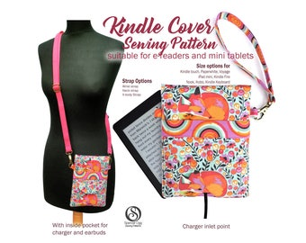 Sewing pattern for Kindle or mini iPad cover, Kindle Fire, Kobo, Nook case. Mini Tablet bag