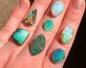 Australian opal ring. Custom made opal ring. rainbow colours