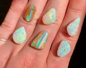 Australian pipe opal ring. Custom made opal ring. rainbow colours
