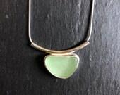 sea glass necklace. Conte...
