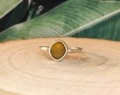 Sea glass ring. Sterling silver seaglass rings. Sea glass jewellery. Handmade sea glass ring.Beach glass.