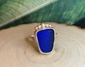 Sea glass ring. Sterling silver seaglass ring. Sea glass jewellery. Handmade. sea glass. Beach glass.