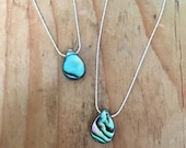 Paua shell necklace. Ster...