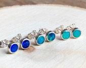 Australian Opal doublet stud earrings