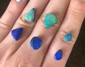 Australian opal doublet ring. Custom made opal ring.