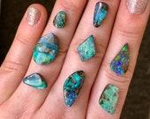 Australian opal ring. Custom made opal ring.
