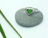Sea glass ring. Sterling ...