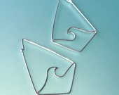 Wave earrings. Geometric ...