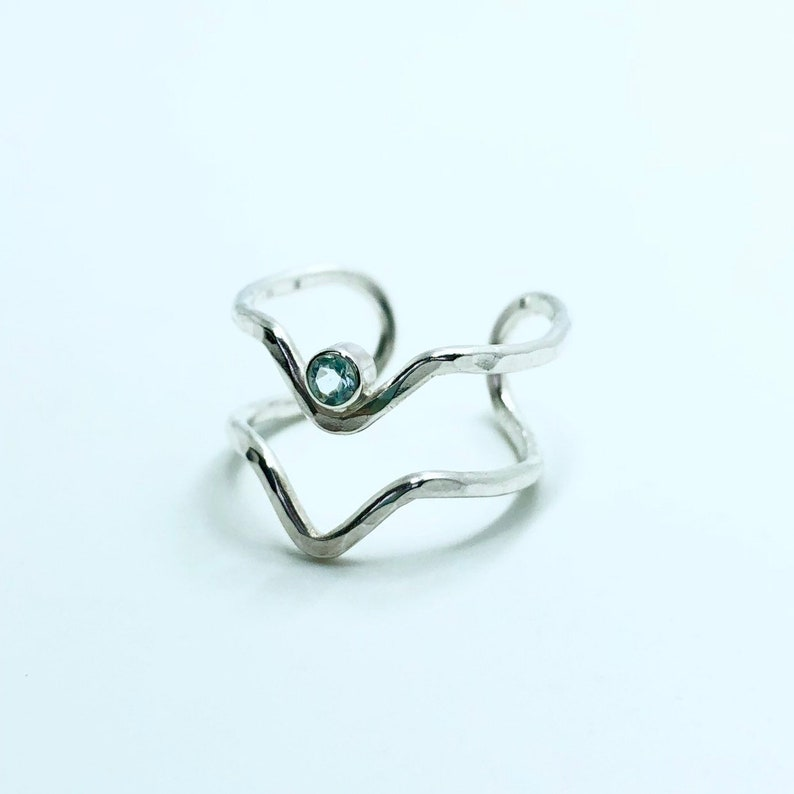 Twin peaks adjustable ring  . Handmade. Adjustable ring. image 0