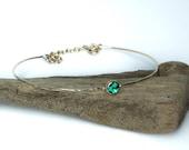 9ct gold and opal bracelet. Minimal jewellery