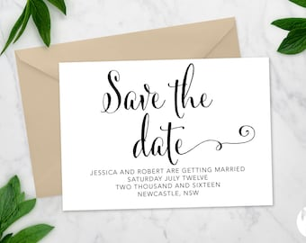 Printable Save the date | Wedding invitation | 'Toni' suite