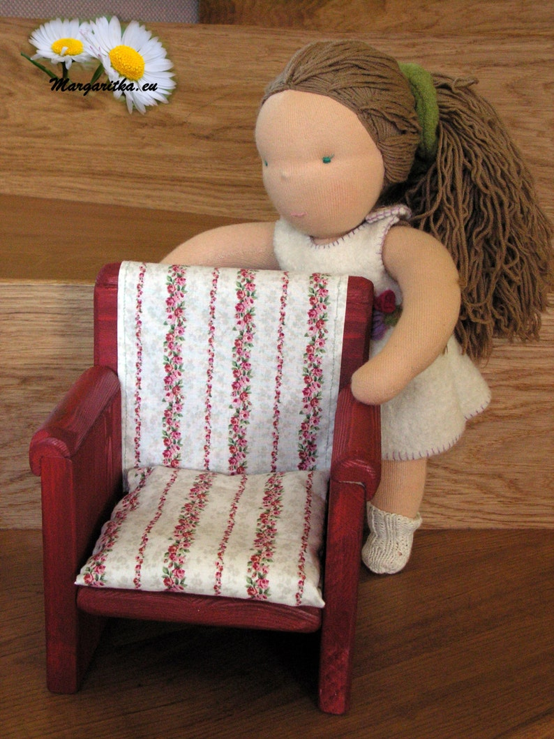 Large Handmade Wooden Doll Chair 18 Inch Doll Furniture American Doll Furniture Waldorf Doll Handmade Toy Doll House Furniture