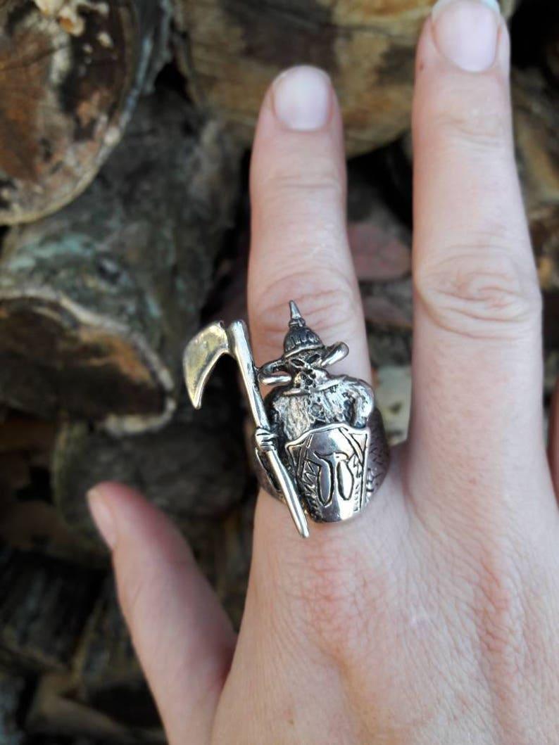 Size 12.5 Vintage 1985 Gothic Executioner Viking G/&S Biker Ring