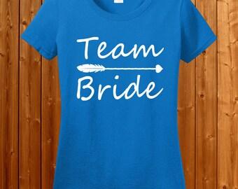 Team Bride T-shirt - Tshirt for Bride, Bachelor Party T-shirt , Bride Tee, Team Bride Tshirt , Weeding T-shirt SM-00114