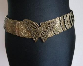 736162951f8 Or métal ceinture élastique tendu ceinture taille ceinture hanches femmes  vintage ceinture ceinture Boho
