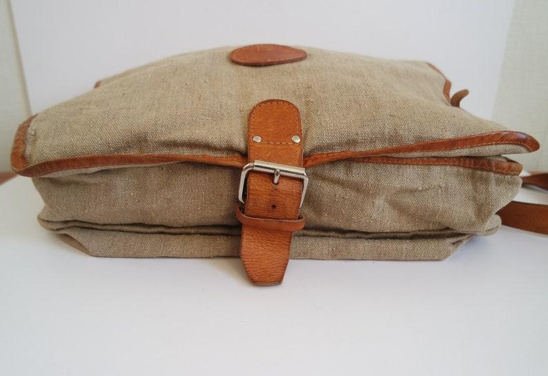 Vintage Large Messenger Bag  Canvas Messenger Bag  Crossbody Bag  Extra Large Satchel