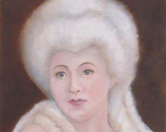 Fairy Art, Fairy Godmother, Faerie Art, Faerie Guardian, Powdered Wig, Fairy Art Print, ( A4 Print )
