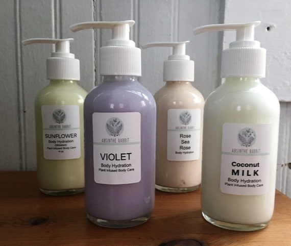 Summer Seasonal Body Hydration. Rose-Violet-Milk-Sunflower