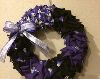 "14"" Colorado Rockies wreath"