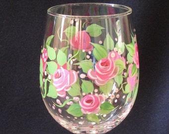 Rose Wine Glass. Pink Rose Glass. Rose Wine Glass. Rose Glass