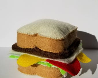 Pittsburgh Sandwich Cat Toy