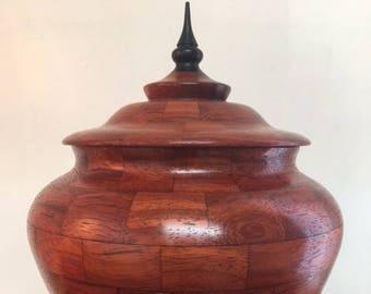 padauk segmented vessel