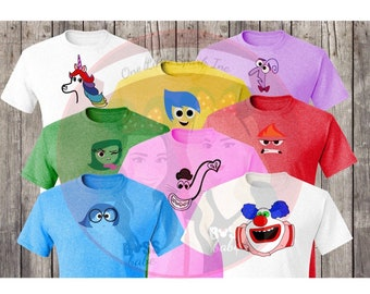 Inside Out Shirt Fear Sadness Joy Disgust Family Matching Halloween Shirts Mouse Costume Bing
