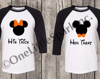 d7130fe0 mickey and minnie matching halloween couple shirt not so scary halloween