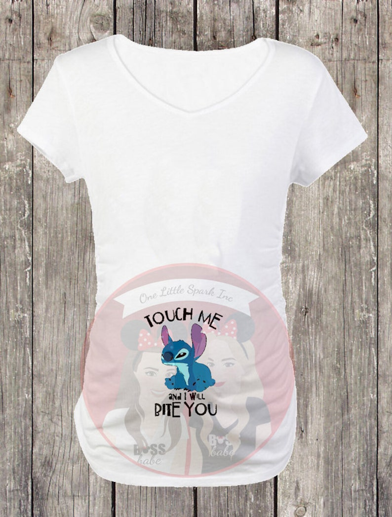 a0b06d90933 Lilo and stitch maternity shirt Disney Stitch maternity shirt