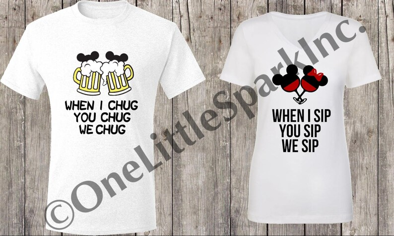 cea30744561 When I sip you sip mouse drinking couple shirt