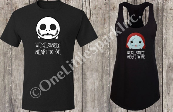 Nightmare Before Christmas Maternity Clothes.Nightmare Before Christmas Couple Shirt Jack And Sally Halloween Couple