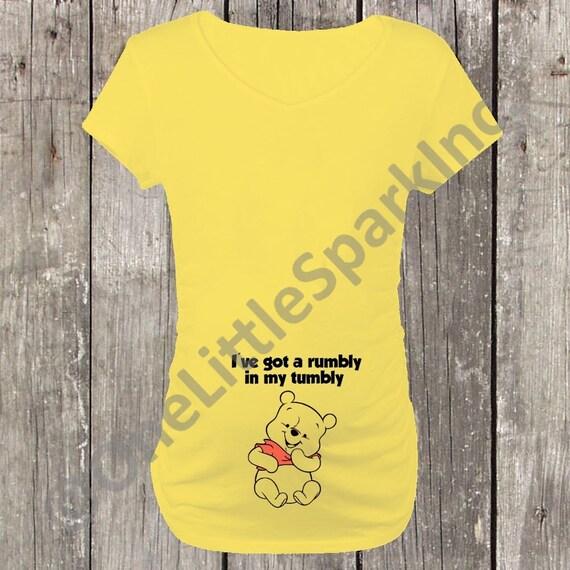 Pooh Bear Maternity Shirt Disney Maternity Shirt Disney Etsy