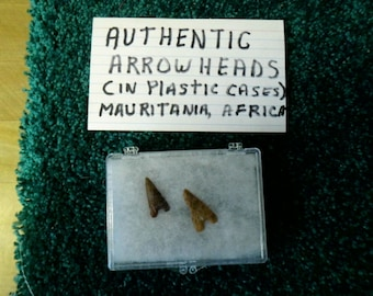 Authentic Arrowheads - Mauritania Africa - You get two!