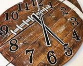 Pallet Wood Football Clock